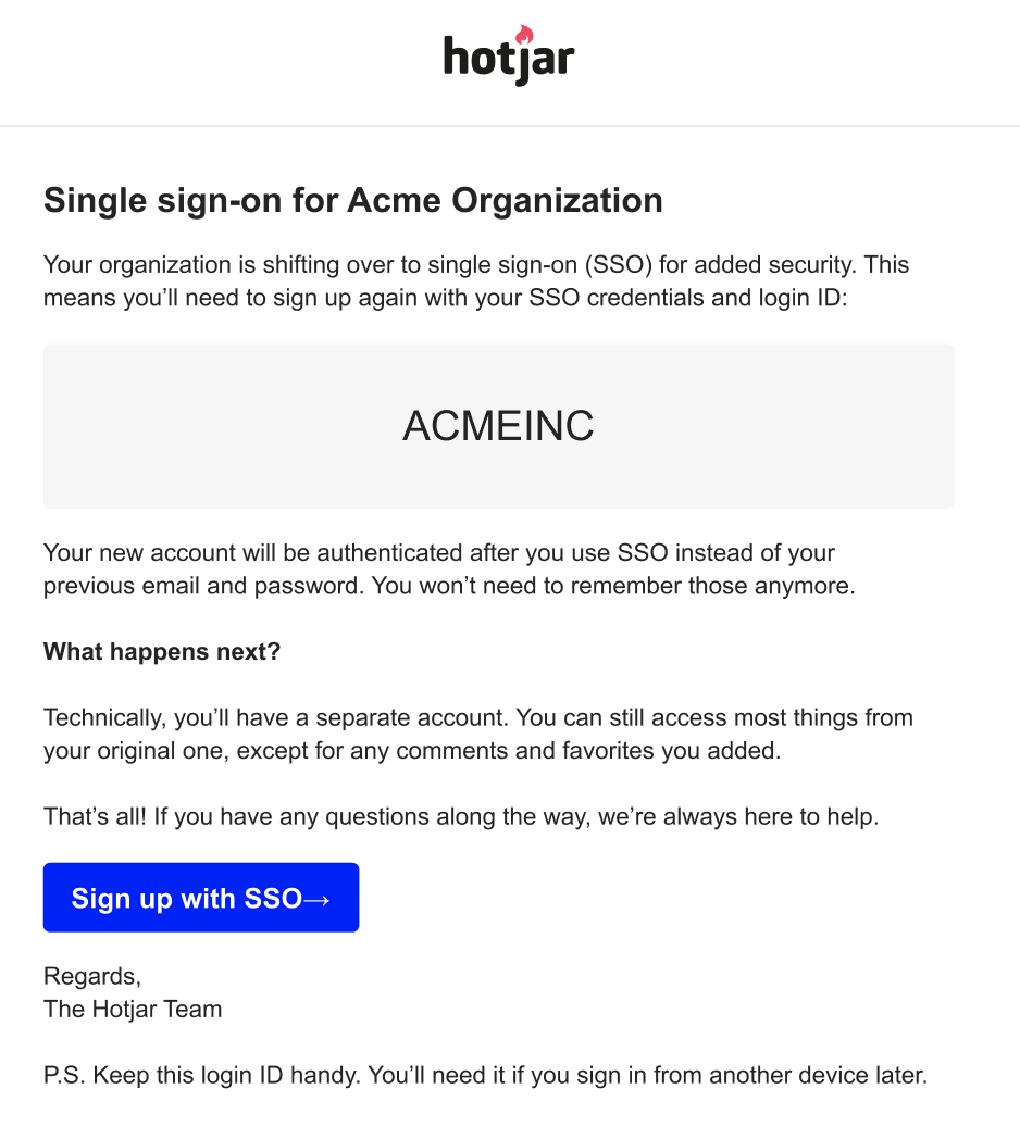 image is showing the invite message with sign up with SSO button