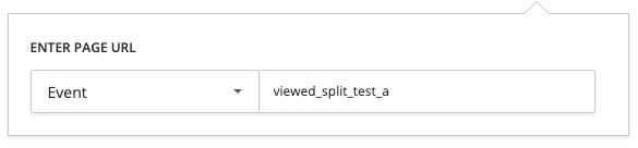 screenshot of event targeting option