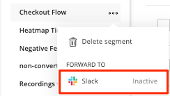image of Forward to Slack menu