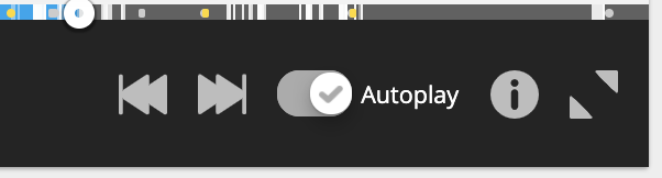Options on the right allow you to control how Hotjar jumps between Recording. You also have an icon that shows keyboard shortcuts, and the ability to minimise the left-hand pane.